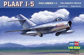 HobbyBoss Chinese PLAAF J-5 Fighter Plastic Model Airplane Kit 1/48 Scale #80335
