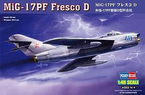 HobbyBoss MiG-17PF Fresco D Plastic Model Airplane Kit 1/48 Scale #80336
