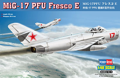 HobbyBoss MiG-17PM Fresco E Plastic Model Airplane Kit 1/48 Scale #80337