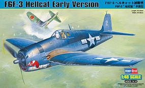 HobbyBoss F6F-3 Hellcat Plastic Model Airplane Kit 1/48 Scale #80338