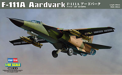 Hobby Boss F-111A Aardvark -- Plastic Model Airplane Kit -- 1/48 Scale -- #80348