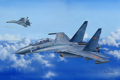 HobbyBoss Su-30MKK Flanker G Plastic Model Airplane Kit 1/48 Scale #81714