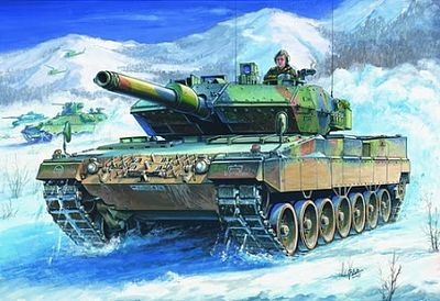 HobbyBoss German Leopard 2 A5/A6 Tank Plastic Model Military Vehicle Kit 1/35 Scale #82402