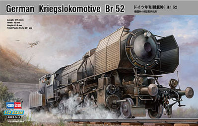 HobbyBoss Kriegslokomotive BR 52 Plastic Model Locomotive Kit 1/72 Scale #82901