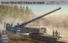 HobbyBoss German 280mm K5E Railway Gun Leopold Plastic Model Military Vehicle Kit 1/72 Scale #82903