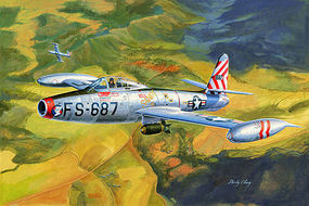 HobbyBoss F-84E Thunderjet Plastic Model Airplane Kit 1/32 Scale #83207