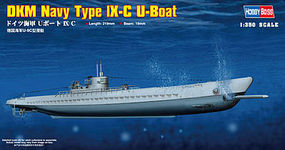 HobbyBoss Type IXC U-Boat German Navy Plastic Model Military Ship Kit 1/350 Scale #83508