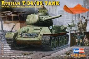 HobbyBoss T-34/85 Russian 1944 Angle Turret Plastic Model Military Vehicle Kit 1/48 Scale #84809
