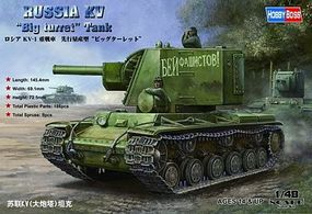 HobbyBoss KV Russian Big Turret Tank Plastic Model Military Vehicle Kit 1/48 Scale #84815