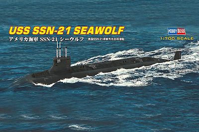 HobbyBoss USS SSN-21 Seawolf Attack Submarine Plastic Model Military Ship Kit 1/700 Scale #87003