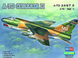 HobbyBoss A-7D Corsair II Plastic Model Airplane Kit 1/72 Scale #87203