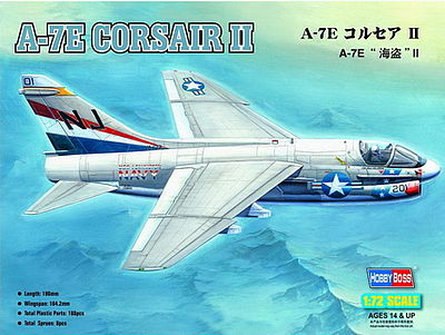HobbyBoss A-7E Corsair II Plastic Model Airplane Kit 1/72 Scale #87204