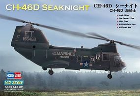 HobbyBoss CH-46 Sea Knight American Plastic Model Helicopter Kit 1/72 Scale #87213