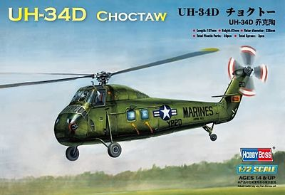 HobbyBoss UH-34D Choctaw American Plastic Model Helicopter Kit 1/72 Scale #87222