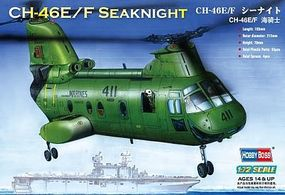 HobbyBoss CH-46F Sea Knight American Plastic Model Helicopter Kit 1/72 Scale #87223