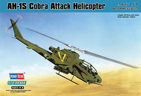 HobbyBoss AH-1S Cobra Attack Helicopter Plastic Model Helicopter Kit 1/72 Scale #87225