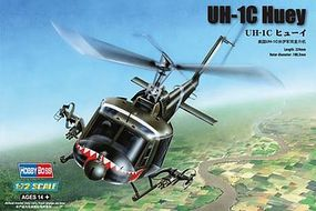 HobbyBoss UH-1C Huey Plastic Model Helicopter Kit 1/72 Scale #87229