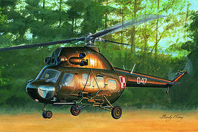 HobbyBoss MIL MI-2US Gunship Plastic Model Helicopter Kit 1/72 Scale #87242