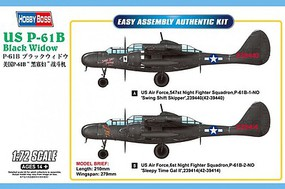 HobbyBoss P-61B Black Widow Plastic Model Airplane Kit 1/72 Scale #87262