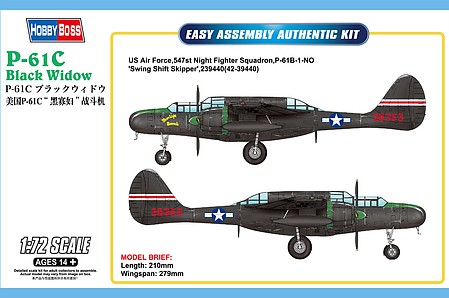 HobbyBoss US P-61C Black Widow 1-72