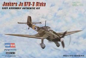 HobbyBoss Junkers JU 87D-3 Stuka Plastic Model Airplane Kit 1/72 Scale #hy80286