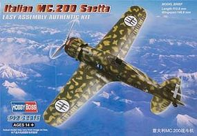 HobbyBoss Italian MC 200 Saetta Plastic Model Airplane Kit 1/72 Scale #hy80291