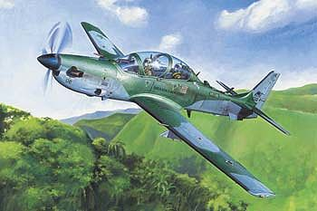Hobby Boss Brazilian EMB314 Super Tucano -- Plastic Model Airplane Kit -- 1/48 Scale -- #hy81727