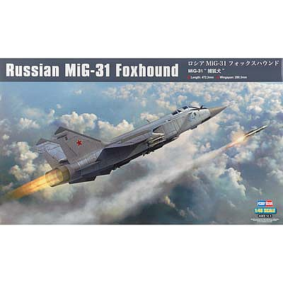 HobbyBoss Russian MIG-31 Foxhound Plastic Model Airplane Kit 1/48 Scale #hy81753