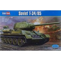 HobbyBoss WWII Soviet T34/85 Plastic Model Military Vehicle 1/16 Scale #hy82602