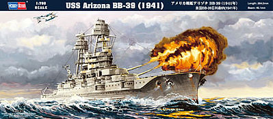 Hobby Boss USS Arizona BB-39 1941 -- Plastic Model Military Ship Kit -- 1/700 Scale -- #hy83401