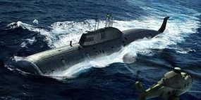 HobbyBoss SSN Akula Class Submarine Plastic Model Military Ship Kit 1/350 Scale #hy83525