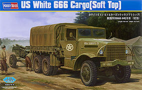 HobbyBoss US White 666 Cargo (Soft Top) Plastic Model Military Vehicle Kit 1/35 Scale #hy83802