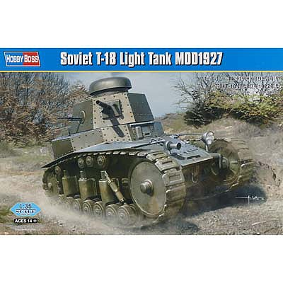 HobbyBoss Soviet T-18 Light Tank MOD1927 Plastic Model Military Vehicle Kit 1/35 Scale #hy83873
