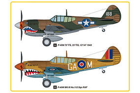 HobbyBoss P-40M Kitty Hawk Fighter Plastic Model Airplane Kit 1/48 Scale #hy85801