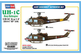HobbyBoss UH-1C Huey Plastic Model Helicopter Kit 1/48 Scale #hy85803