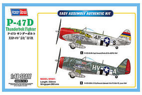 HobbyBoss P-47D Thunderbolt Plastic Model Airplane Kit 1/48 Scale #hy85804