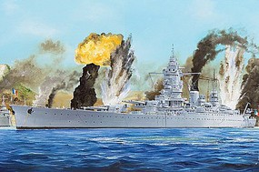 HobbyBoss French Navy Dunkerque Battleship Plastic Model Military Ship Kit 1/350 Scale #hy86506