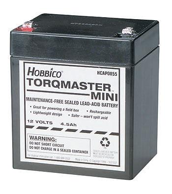 torqmaster mini 12v 4 5a battery hcahcap0855 hobbico rc sealed battery. Black Bedroom Furniture Sets. Home Design Ideas