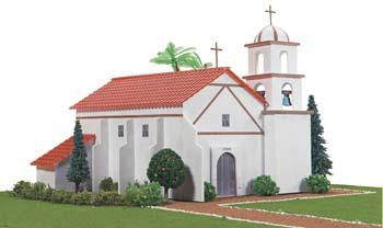 Hobbico California Mission San Buenaventura -- Mission Project Building Kit -- #y9025