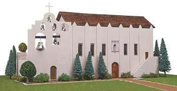Hobbico California Mission San Gabriel Arcangel -- Mission Project Building Kit -- #y9031