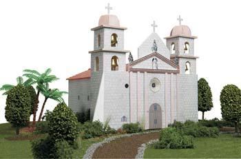 Hobbico California Mission Santa Barbara -- Mission Project Building Kit -- #y9039