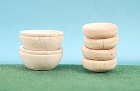 Hobbico Wood Bowls (6) Mission Project Accessory #y9270