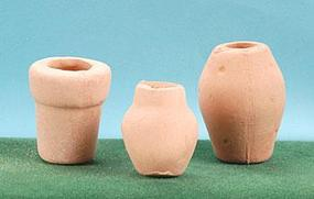 Hobbico Clay Pots (3) Mission Project Accessory #y9341