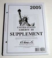 HE-Harris 2005 US Liberty III Stamp Album Supplement Stamp Collecting Supply #22235