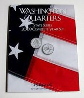 HE-Harris 2009 Complete Year Washington State Quarters Coin Folder Coin Collecting Book and Supply #2384