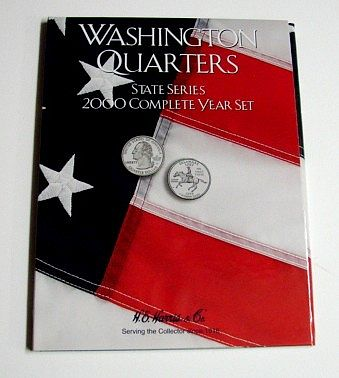 HE-Harris 2000 Complete Year Washington State Quarters Coin Folder (D) Coin Collecting Book #2583