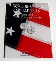 HE-Harris 2002 Complete Year Washington State Quarters Coin Folder (D) Coin Collecting Book #2585
