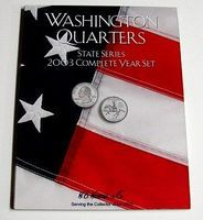 HE-Harris 2003 Complete Year Washington State Quarters Coin Folder (D) Coin Collecting Book #2586