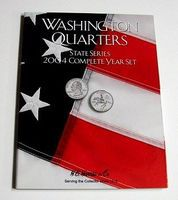 HE-Harris 2004 Complete Year Washington State Quarters Coin Folder Coin Collecting Book #2587