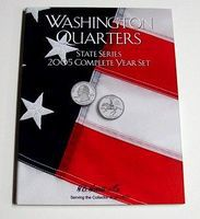 HE-Harris 2005 Complete Year Washington State Quarters Coin Folder Coin Collecting Book #2588